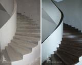 Оделка бетонных лестниц деревом